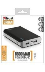 Trust Urban Primo PowerBank 8800mAh Portable Charger Czarny