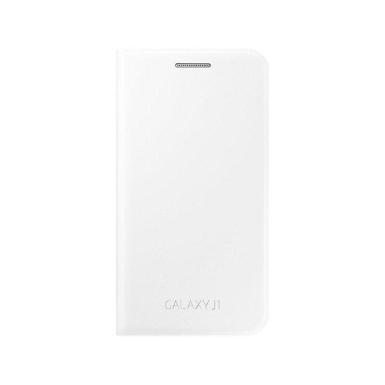 Etui Flip Wallet Białe do Samsung Galaxy J1 EF-FJ100BWEGWW